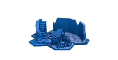 figura monumento conjunto 6 hexagonos