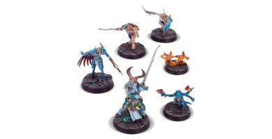 warhammer underworlds ojos de los nueve figuras