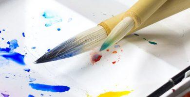 pincel seco pintura
