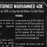 torneo guarida del kraken 17 febrero 2019 warhammer 40k