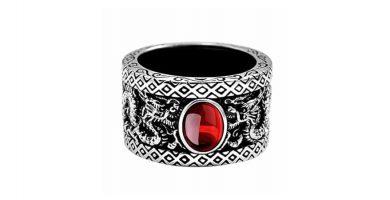 anillo de dragon plata dragones draco