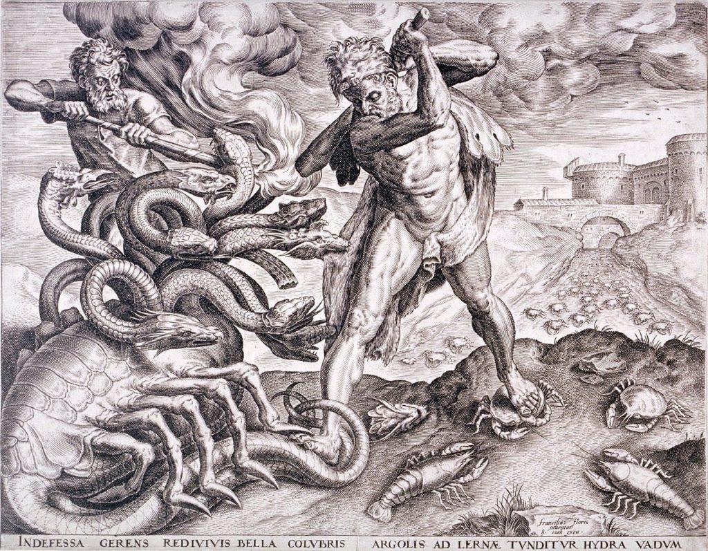 hercules matando a la hidra