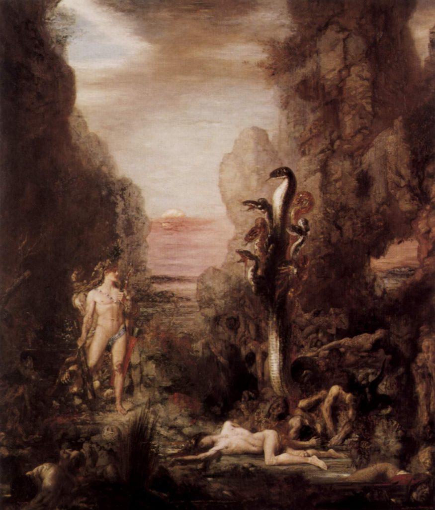 hercules y la hidra arte