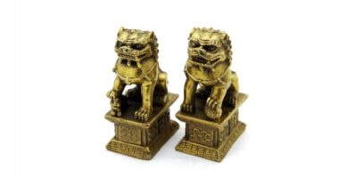 leones de fu de bronce