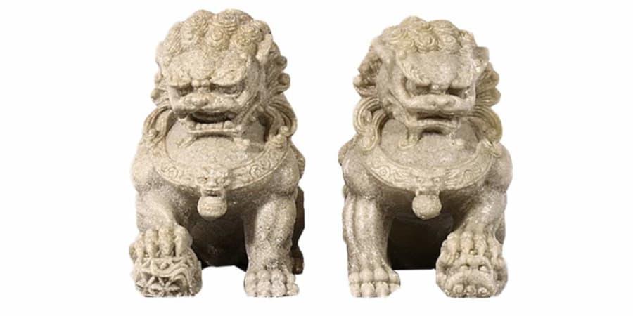 leones de fu perros foo piedra