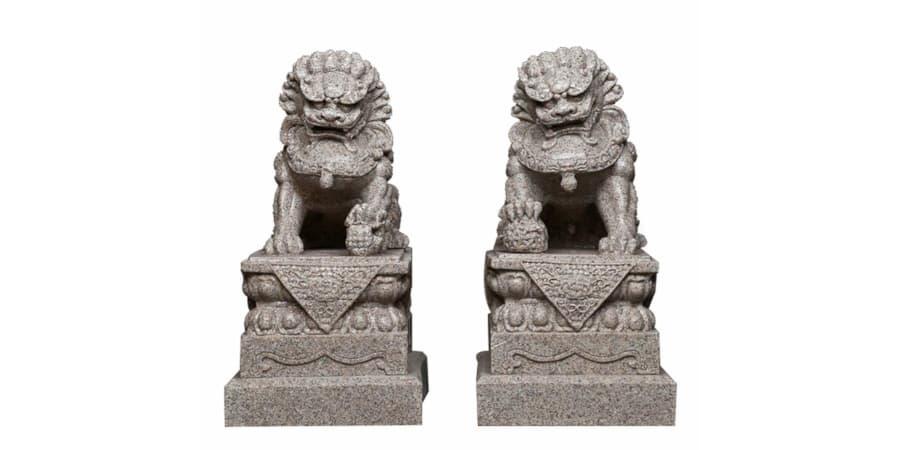 leones de fu perros foo entrada