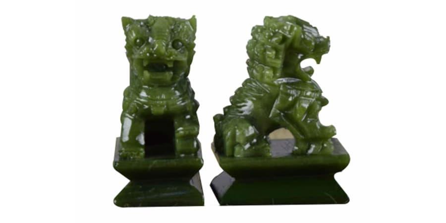 leones de fu perros foo verde