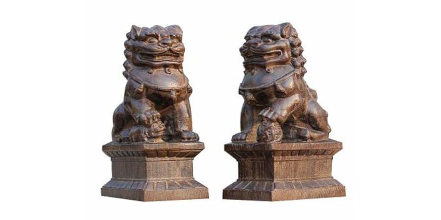 leones de fu perros foo granito