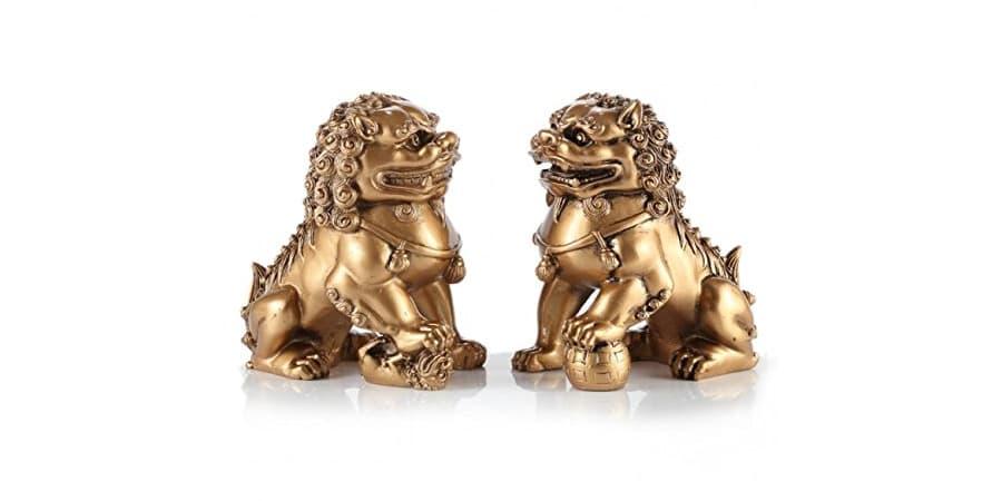 leones de fu perros foo dorado