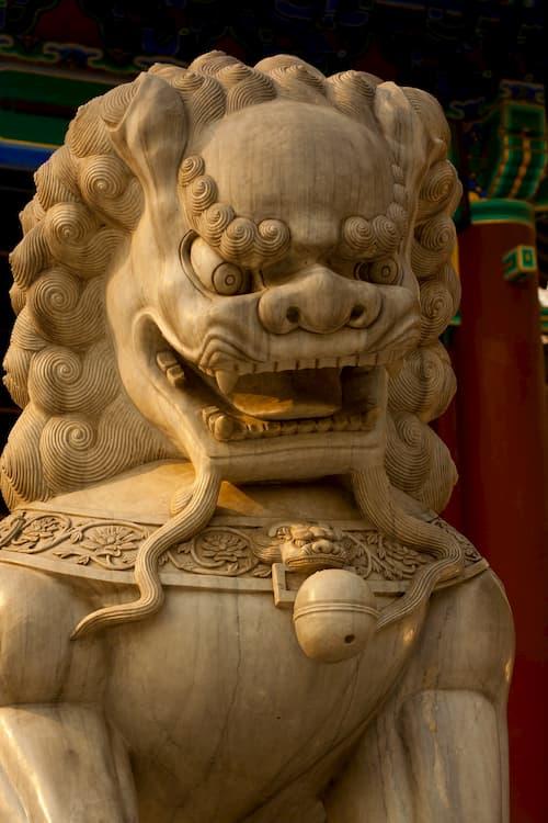 leones de fu perro asiatico