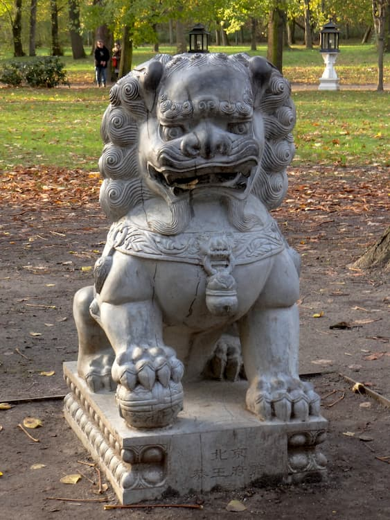 leones de fu perro chino