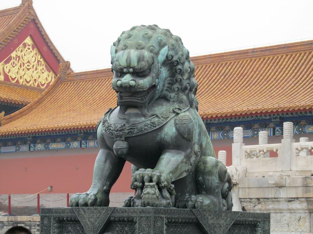 leones de fu perro templo