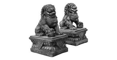 perros leones de fu foo leon perro
